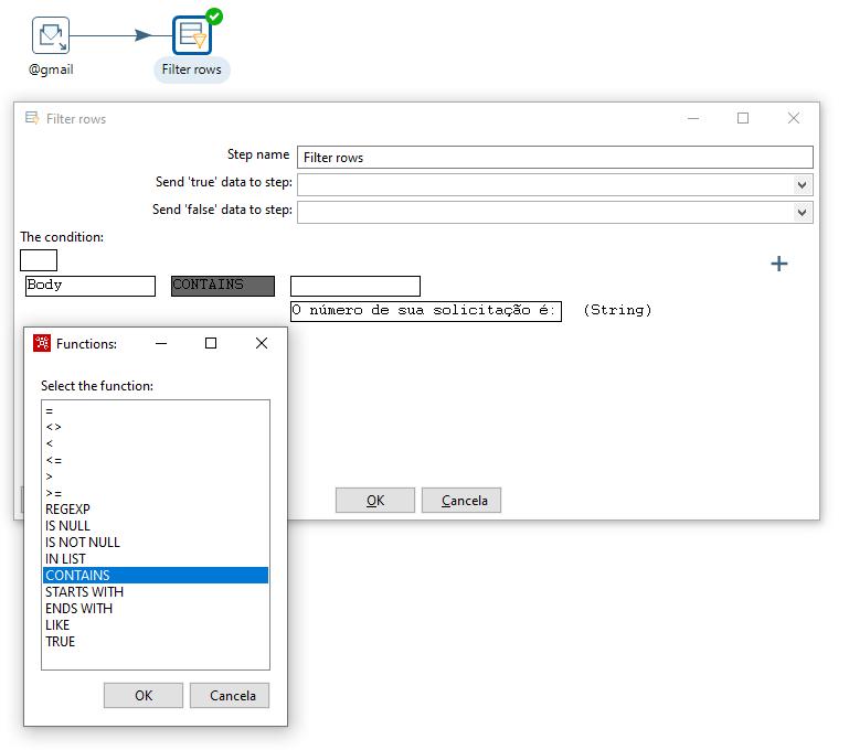 Figura 11 - Configurando Filter rows