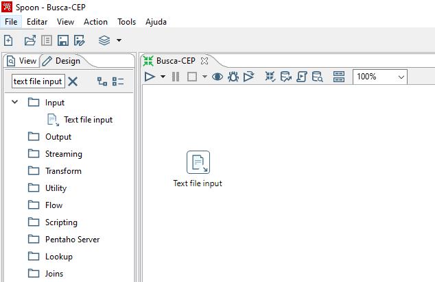 Figura 2 - Text file input